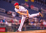 28 April 2016: Washington Nationals pitcher Jonathan Papelbon on the mound against the Philadelphia Phillies at Nationals Park in Washington, DC. The Phillies shut out the Nationals 3-0 to sweep their mid-week, 3-game series. Mandatory Credit: Ed Wolfstein Photo *** RAW (NEF) Image File Available ***