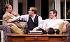 My Night with Reg <br /> by Kevin Elyot <br /> at the Apollo Theatre, London, Great Britain <br /> Press photocall<br /> 20th January 2015 <br /> <br /> Geoffrey Streatfeild as Daniel <br /> Jonathan Broadbent as Guy <br /> Julian Ovenden as John <br /> Photograph by Elliott Franks <br /> Image licensed to Elliott Franks Photography Services