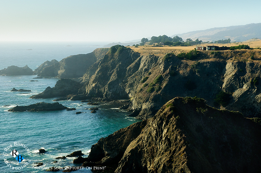 A cliff house perched high above the massive and rugged Sonoma County coastline