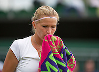 25-06-13, England, London,  AELTC, Wimbledon, Tennis, Wimbledon 2013, Day two, Michaella Krajicek (NED)<br /> <br /> <br /> <br /> Photo: Henk Koster