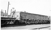 D&amp;RGW flat car and gondola #500 in Alamosa yards.<br /> D&amp;RGW  Alamosa, CO  Taken by Berkstresser, George - 6/1967