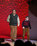 Dan Lauria & Johnny Rabe during the Broadway Opening Night Performance Curtain Call for 'A Christmas Story - The Musical'  at the Lunt Fontanne Theatre in New York City on 11/19/2012.