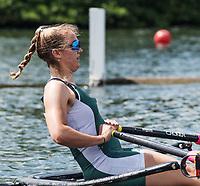 Henley. Berks, United Kingdom. <br /> <br /> Phoebe CAMPBELL. University of Exeter. JW1X. Competing at, 2017 Henley' Women's  the Regatta. Rowing on, Henley Reach. River Thames. <br /> <br /> <br /> Saturday  17/06/2017<br /> <br /> <br /> [Mandatory Credit Peter SPURRIER/Intersport Images]