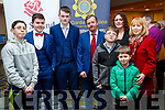 Daniel Hunt, Padraig Hunt, Mikey Murphy, Mike Murphy, Sean Hunt, Josephine Murphy, James Hunt and Nora Hunt, pictured at the Lee Strand Kerry Garda/Youth Achievement Awards 2017 at Ballyroe Heights Hotel, Tralee, on Friday night last.