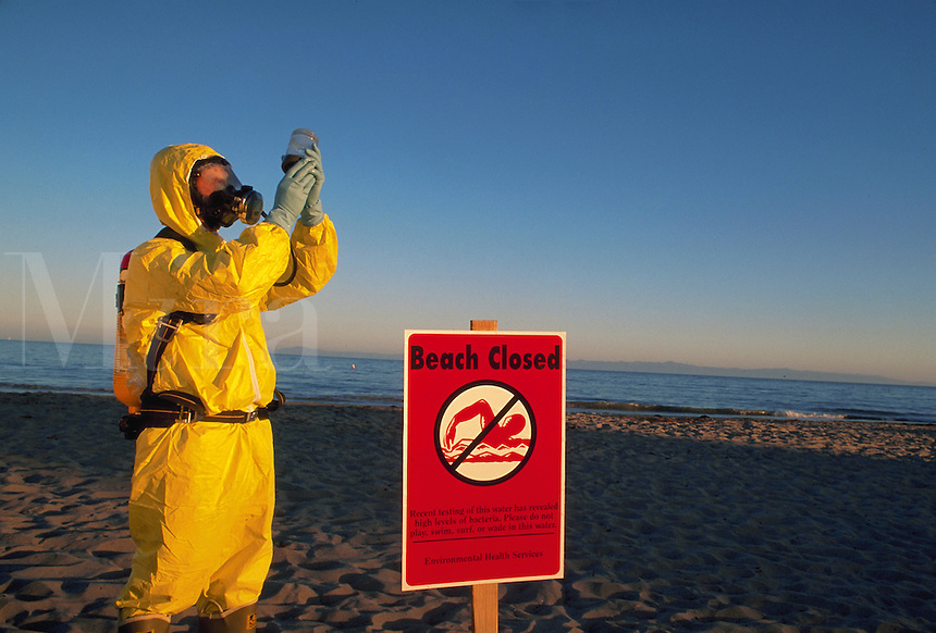 Beach closed due to contamination