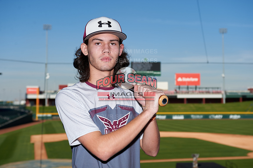 Victor Brown during the Under Armour All-America Tournament powered by Baseball Factory on January 17, 2020 at Sloan Park in Mesa, Arizona.  (Zachary Lucy/Four Seam Images)