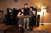 "Hallie Jordan, Nick Nicholson, Alyssa Lobit<br /> on the ""Mindless"" Film Set by Blanc/Biehn Productions, Private Location, Los Angeles, CA 05-18-14<br /> Dave Edwards/DailyCeleb.com 818-249-4998"