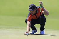 Danny Willett (ENG) on the 12th green during Thursday's Round 1 of the 118th U.S. Open Championship 2018, held at Shinnecock Hills Club, Southampton, New Jersey, USA. 14th June 2018.<br /> Picture: Eoin Clarke | Golffile<br /> <br /> <br /> All photos usage must carry mandatory copyright credit (&copy; Golffile | Eoin Clarke)