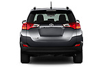 Straight rear view of a 2013 Toyota rav4 limited Select Doors Door SUV stock images