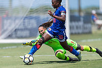 Bradenton, FL - Sunday, June 12, 2018:  prior to a U-17 Women's Championship 3rd place match between Canada and Haiti at IMG Academy.  Canada defeated Haiti 2-1.