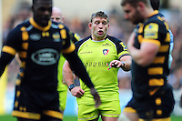 Tom Youngs of Leicester Tigers looks on. Aviva Premiership match, between Wasps and Leicester Tigers on January 8, 2017 at the Ricoh Arena in Coventry, England. Photo by: Patrick Khachfe / JMP