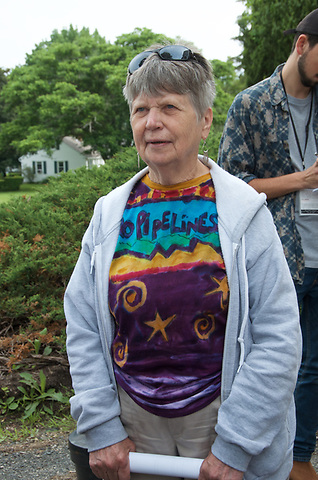 8 Sugar Shack Alliance members arrested for blocking Kinder Morgan gas pipeline work in Otis State Forest in Sandisfield MA are arraigned at Southern District Berkshire Courthouse in Great Barrington MA and are charged with civil rather than criminal trespassing.