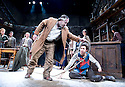 The Playboy of The Western World by J M Synge, directed by John Crowley. With Gary Lydon as Old Mahon,  Robert Sheehan as Christopher Mahon,. Opens at The Old Vic Theatre on 27/9/11 . CREDIT Geraint Lewis