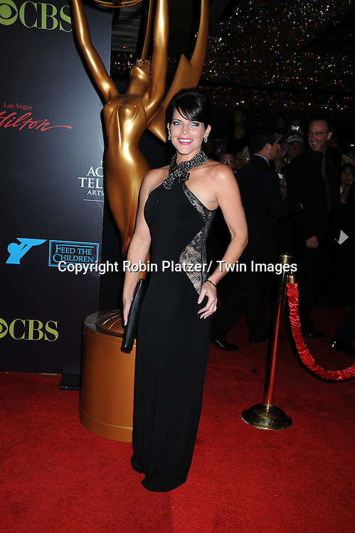 Lesli Kay arriving at The 37th Annual Daytime Emmy Awards on June 27, 2010 at The Hilton in Las Vegas, Nevada.