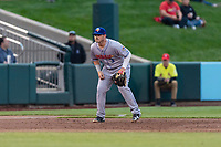 Amarillo Sod Poodles third baseman Kyle Overstreet (3) during a Texas League game against the Springfield Cardinals on April 25, 2019 at Hammons Field in Springfield, Missouri. Springfield defeated Amarillo 8-0. (Zachary Lucy/Four Seam Images)