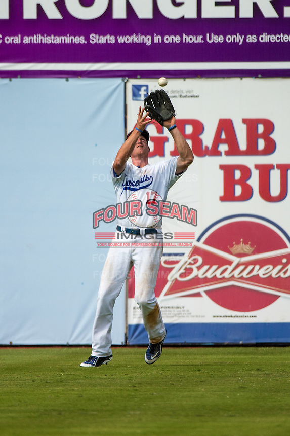 Travis Harrison (17) of the Chattanooga Lookouts fields during a game between the Jackson Generals and Chattanooga Lookouts at AT&T Field on May 10, 2015 in Chattanooga, Tennessee. (Brace Hemmelgarn/Four Seam Images)