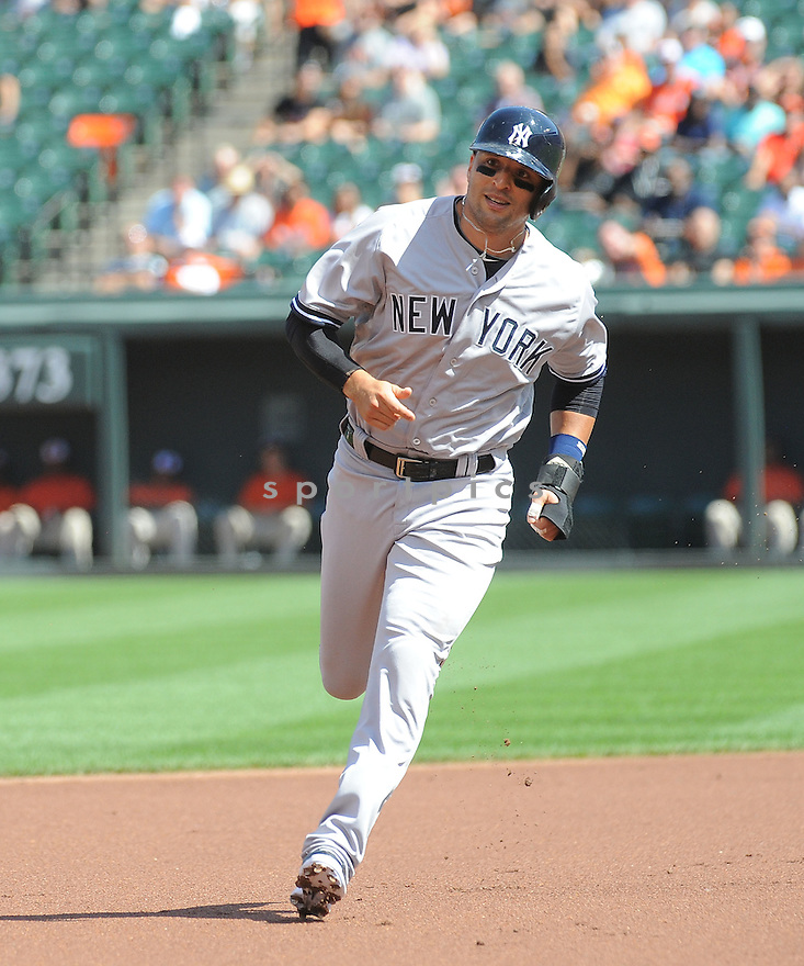 New York Yankees Martin Prado (14) during a game against the Baltimore Orioles on September 12, 2014 at Orioles Park in Baltimore, MD. The Orioles beat the Yankees 2-1.