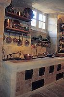 Europe/France/Normandie/Basse-Normandie/14/Calvados/Vallée de la Mue: Le Château de Vendeuvres: Cuisine du Château