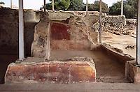 The Rooms; Villa of El Munts; I Century AD, Tarragona (Tarraco, Hispania Citerior), Catalonia, Spain; one of the largest built on a hill overlooking the coast, only 12 km from Tarragona (Tarraco). © Manuel Cohen