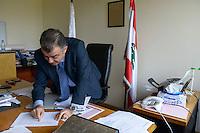 LEBANON Deir el Ahmad, a maronite christian village in Beqaa valley / LIBANON Deir el Ahmad, ein christlich maronitisches Dorf in der Bekaa Ebene, Buergermeister Miled Akoury
