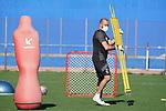Getafe's Goalkeeping coach Javier Barbero during training session. May 19,2020.(ALTERPHOTOS/Acero)