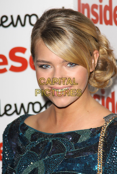 INDIANA EVANS .Attending the Inside Soap Awards 2009 at Sketch, London, England, UK, September 28th 2009..arrivals portrait headshot hair up fringe green sequined sequins .CAP/AH.©Adam Houghton/Capital Pictures.
