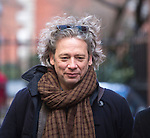 """Pic shows: Dexter Fletcher<br /> <br /> <br /> Funeral of Roger Lloyd-Pack - """"Trigger"""" from Only Fools and Horses.<br /> <br /> Mourners arriving at the service at Actors Church in Covent Garden -<br /> <br /> <br /> <br /> <br /> Pic by Gavin Rodgers/Pixel 8000 Ltd"""