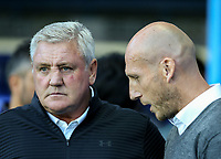 Aston Villa Manager Steve Bruce (left) & Reading Manager Jaap Stam during the Sky Bet Championship match between Reading and Aston Villa at the Madejski Stadium, Reading, England on 15 August 2017. Photo by Andy Rowland / PRiME Media Images.