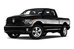 Stock pictures of low aggressive front three quarter view of a 2019 Ram RAM-1500-Classic  Express 4 Door Pick Up