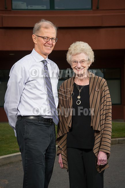 Dr. Robert Hartman and Shirley Bruns, Sutter Amador Hospital