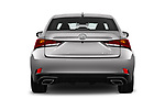 Straight rear view of a 2018 Lexus IS 300 4 Door Sedan stock images
