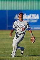 Addison Russell #27 of the Stockton Ports during a game against the High Desert Mavericks at Stater Bros. Stadium on April 27, 2013 in Adelanto, California. Stockton defeated High Desert, 17-7. (Larry Goren/Four Seam Images)