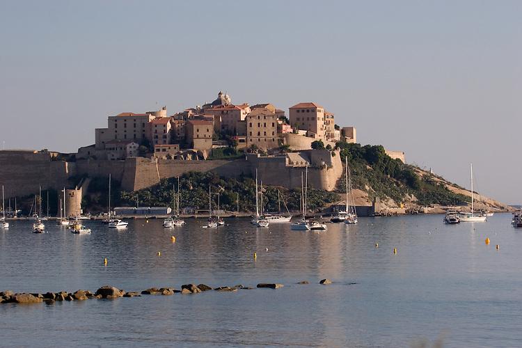 Corsica, France, Calvi, Northwest coast, Mediterranean Sea, Coastal towns in Corsica, French citadel,.