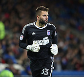 31st October 2017, Cardiff City Stadium, Cardiff, Wales; EFL Championship football, Cardiff City versus Ipswich Town; Bartosz Bialkowski of Ipswich Town