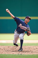 Atlanta Braves pitcher Odalvi Javier (50) during an Instructional League game against the Washington Nationals on September 30, 2016 at Space Coast Stadium in Melbourne, Florida.  (Mike Janes/Four Seam Images)