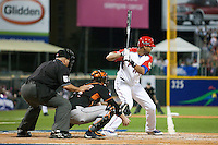 11 March 2009: #19 Alex Rios of Puerto Rico is seen at bat during the 2009 World Baseball Classic Pool D game 6 at Hiram Bithorn Stadium in San Juan, Puerto Rico. Puerto Rico wins 5-0 over the Netherlands