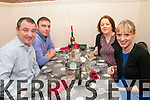 New Year's Eve: Celebrating the new year at Eabha Joan's Restaurant, Listowel  were Padraigh Vallely, Asdee, John  & Shelia Horan, Castleisland & Catherine Dalton, Asdee.