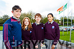 Coláiste Gleann Lí Junior Certificate students pictured on Wednesday morning last l-r: Conor Commane, Chantelle Allen, Adam Maher and Samia Ali.