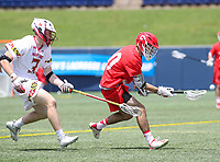 Annapolis, MD - May 20, 2018: Cornell Big Red Ryan Bray (20) gets the loose ball during the quarterfinal game between Maryland vs Cornell at  Navy-Marine Corps Memorial Stadium in Annapolis, MD.   (Photo by Elliott Brown/Media Images International)