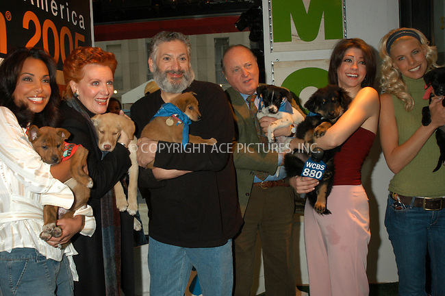 WWW.ACEPIXS.COM . . . . . ....NEW YORK, APRIL 23, 2005....Joumana Kidd, Maureen McGovern, Harvey Fierstein, Mario Buatta, Sophia Hall and Beth Ostrosky at Barney's Madison Avenue display window for the North Shore Animal League America's ' Celebrities and Pets' promotional event.....Please byline: KRISTIN CALLAHAN - ACE PICTURES.. . . . . . ..Ace Pictures, Inc:  ..Craig Ashby (212) 243-8787..e-mail: picturedesk@acepixs.com..web: http://www.acepixs.com