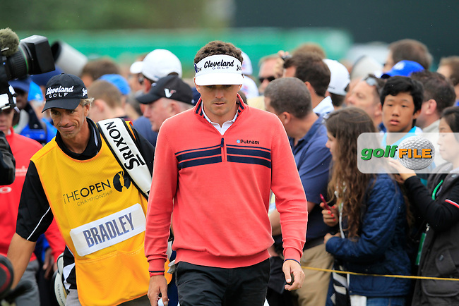 Keegan Bradley (USA) walks to the 12th tee during Friday's Round 2 of the 141st Open Championship at Royal Lytham & St.Annes, England 20th July 2012 (Photo Eoin Clarke/www.golffile.ie)