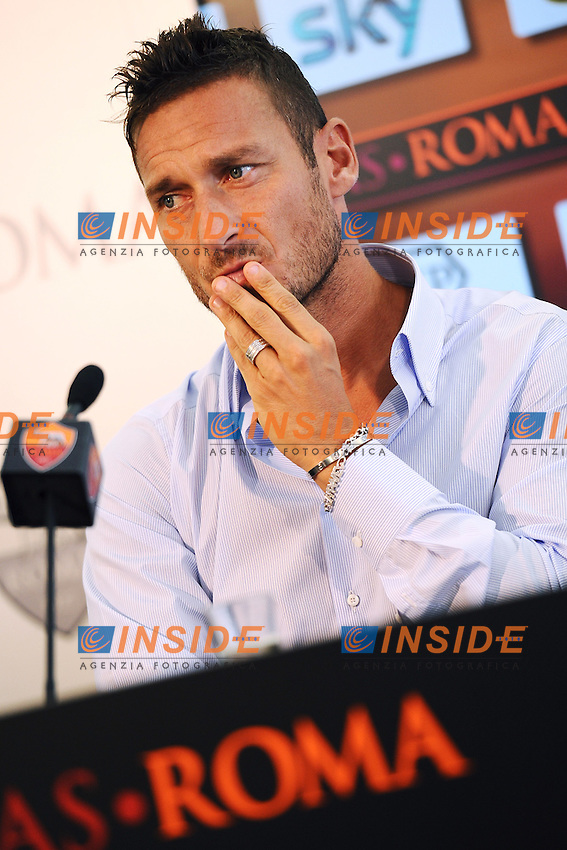 Francesco Totti <br /> Roma 20/09/2013 Centro Sportivo Trigoria <br /> Football Calcio 2013/2014 Serie A<br /> Rinnovo Contratto Francesco Totti <br /> Francesco Totti renews his contract with as Roma <br /> Foto Andrea Staccioli Insidefoto