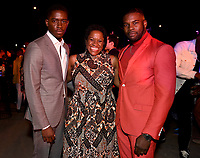 """LOS ANGELES - JULY 08: (L-R) Cast members Damson Idris, Michael Hyatt and Amin Joseph attend the Red Carpet Event for FX's """"Snowfall"""" Season Three Premiere Screening at USC Bovard Auditorium on July 8, 2019 in Los Angeles, California. (Photo by Frank Micelotta/PictureGroup)"""