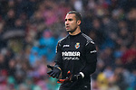 Goalkeeper Sergio Asenjo Andres of Villarreal CF looks on during the La Liga 2017-18 match between Real Madrid and Villarreal CF at Santiago Bernabeu Stadium on January 13 2018 in Madrid, Spain. Photo by Diego Gonzalez / Power Sport Images