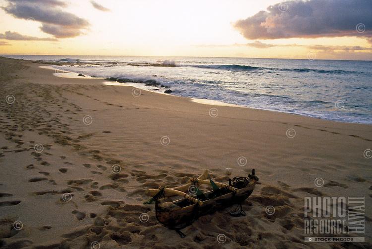 Small ceremonial canoe on beach, Kahoolawe