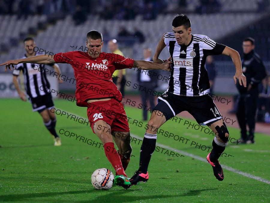Fudbal Jelen Super League season 2015-2016<br /> Partizan v Javor (Ivanjica)<br /> Petar Grbic (R) and Marko Gajic<br /> Beograd, 18.10.2015.<br /> foto: Srdjan Stevanovic/Starsportphoto&copy;