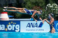 PRK Democratic&nbsp;People's&nbsp;Republic&nbsp;of&nbsp;Korea<br /> JANG Hyon Ok JONG Na Ri KO Su Rim MIN Hae Yon MUN Hye Song RI Il Sim RI Sol YUN Yu Jong  <br /> Team&nbsp;Free Final  <br /> Synchronised swimming , Synchro<br /> 21/07/2017 <br /> XVII FINA World Championships Aquatics<br /> City Park - Varosliget Lake<br /> Budapest Hungary <br /> Photo Andrea Staccioli/Deepbluemedia/Insidefoto