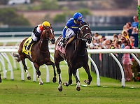July 19, 2014: Istanford with Rafael Bejarano up wins the San Clemente Stakes at Del Mar Race Track in Del Mar CA. Alex Evers/ESW/CSM