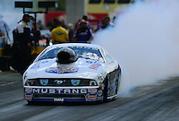 Sept 9, 2012; Clermont, IN, USA: NHRA pro stock driver Larry Morgan during the US Nationals at Lucas Oil Raceway. Mandatory Credit: Mark J. Rebilas-