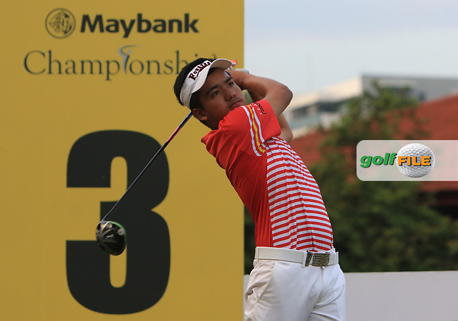 Suradit Yongcharoenchai (THA) in action on the 3rd during Round 1 of the Maybank Championship at the Saujana Golf and Country Club in Kuala Lumpur on Thursday 1st February 2018.<br /> Picture:  Thos Caffrey / www.golffile.ie<br /> <br /> All photo usage must carry mandatory copyright credit (© Golffile | Thos Caffrey)